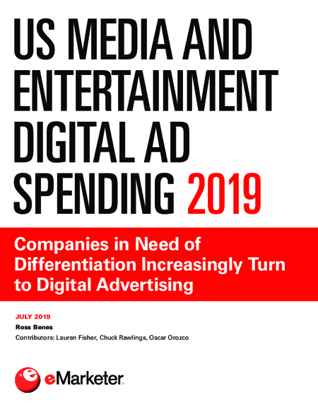 US Media and Entertainment Digital Ad Spending 2019
