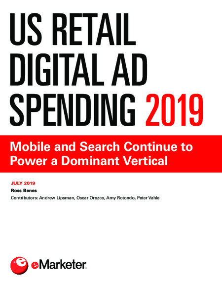 US Retail Digital Ad Spending 2019