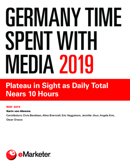 Germany Time Spent with Media 2019