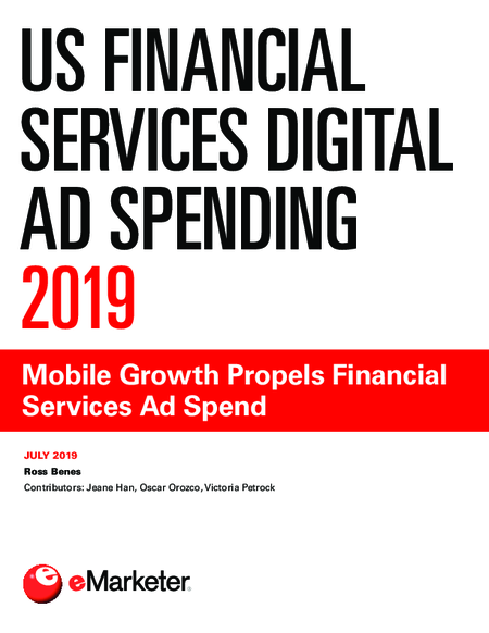 US Financial Services Digital Ad Spending 2019